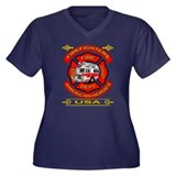 Firefighters~American Heroes Women's Plus Size V-N