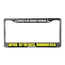 Autism isn't Mercury Poisonin License Plate Frame