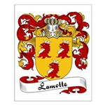 Lamotte Family Crest Small Poster