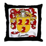 Lamotte Family Crest Throw Pillow