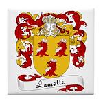Lamotte Family Crest Tile Coaster