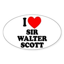 Walter Scott Oval Sticker (50 pk)