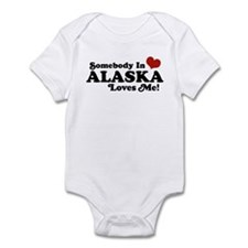 Somebody in Alaska Loves me Infant Bodysuit