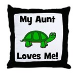 My Aunt Loves Me! Turtle Throw Pillow