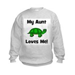 My Aunt Loves Me! Turtle Kids Sweatshirt