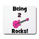 Being 2 Rocks! pink Mousepad