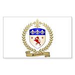 SANSOUCY Family Crest Rectangle Sticker 50 pk)
