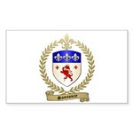 SANSOUCY Family Crest Rectangle Sticker 10 pk)
