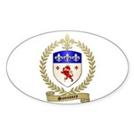 SANSOUCY Family Crest Oval Sticker (10 pk)