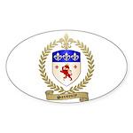 SANSOUCY Family Crest Oval Sticker (10 pk)
