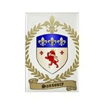 SANSOUCY Family Crest Rectangle Magnet
