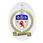 SANSOUCY Family Crest Oval Ornament