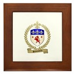 SANSOUCY Family Crest Framed Tile