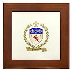 SANSOUCY Family Crest Framed Tile