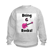 Being 6 Rocks! pink Sweatshirt