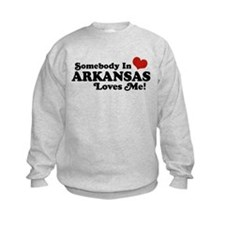 Somebody in Arkansas Loves me Sweatshirt