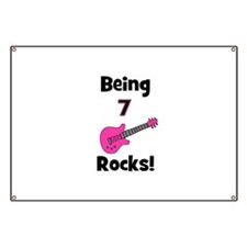 Being 7 Rocks! pink Banner
