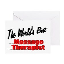 """The World's Best Massage Therapist"" Greeting Card"