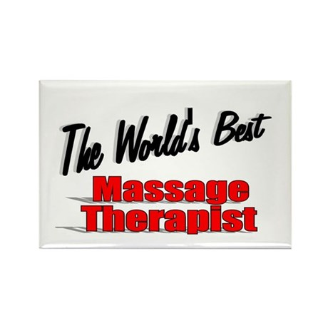 """The World's Best Massage Therapist"" Rectangle Mag"