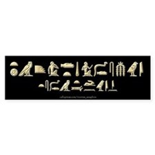 I Speak Egyptian Black Bumper Car Sticker