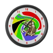 World Cut Soccer - Large Wall Clock