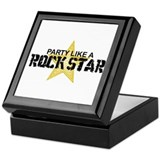 Party Like a Rock Star Keepsake Box