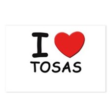 I love TOSAS Postcards (Package of 8)