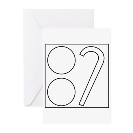 Two Ball Cane Greeting Cards (Pk of 10)