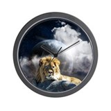 Leo Moon Wall Clock