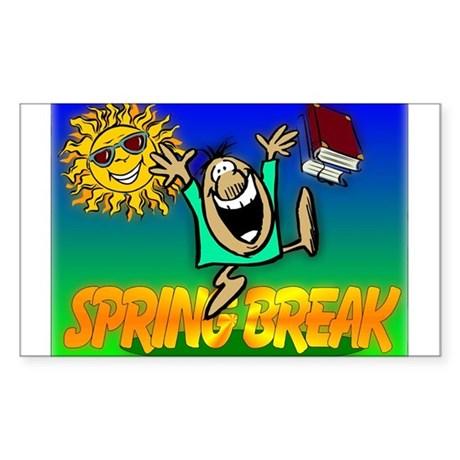Spring Break Rectangle Sticker 10 pk)