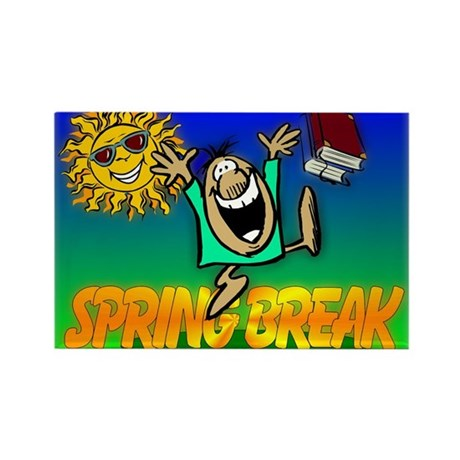 Spring Break Rectangle Magnet (10 pack)