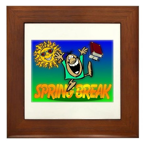 Spring Break Framed Tile