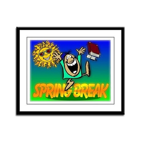Spring Break Framed Panel Print