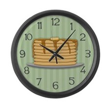 Pancakes Large Wall Clock