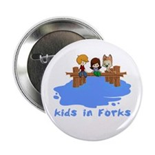 """Kids in Forks 2.25"""" Button"""