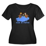 Kids in Forks Women's Plus Size Scoop Neck Dark T-