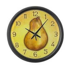 Yellow Pear Large Wall Clock