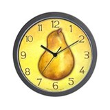 Yellow Pear Wall Clock