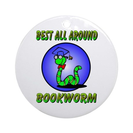 Best Bookworm Ornament (Round)