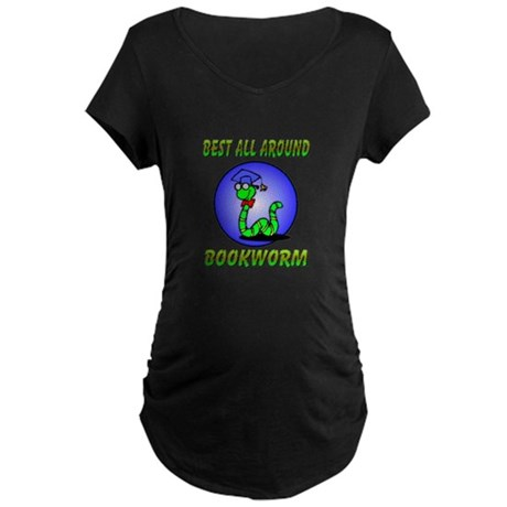 Best Bookworm Maternity Dark T-Shirt