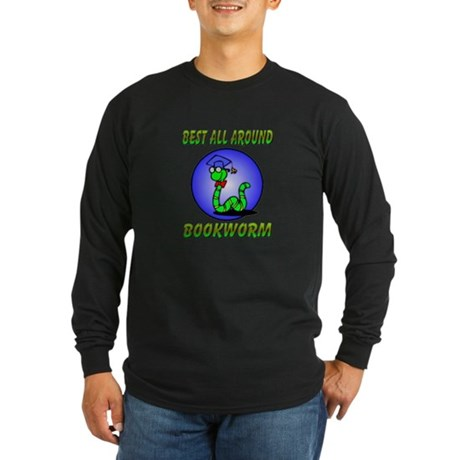 Best Bookworm Long Sleeve Dark T-Shirt