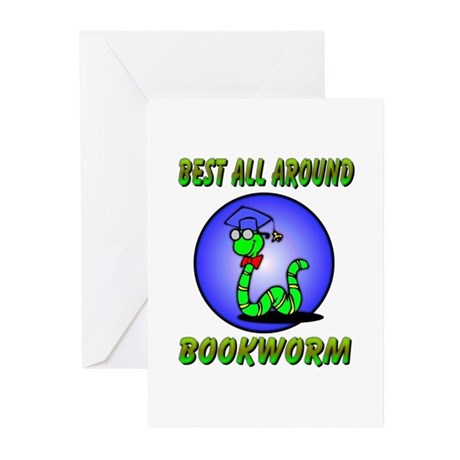 Best Bookworm Greeting Cards (Pk of 20)