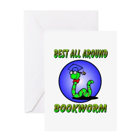 Best Bookworm Greeting Card