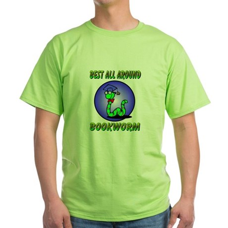 Best Bookworm Green T-Shirt