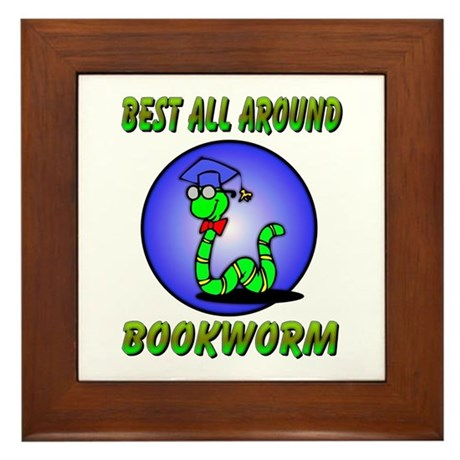 Best Bookworm Framed Tile