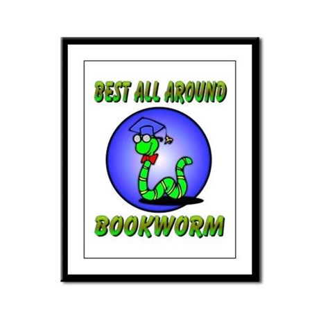 Best Bookworm Framed Panel Print