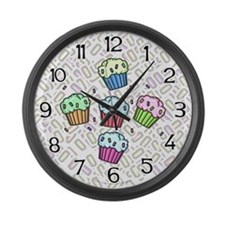 Cupcake Large Wall Clock