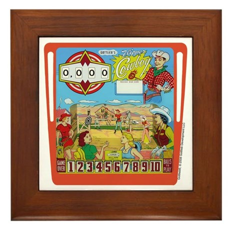 "Gottlieb® ""Flipper Cowboy"" Framed Tile"