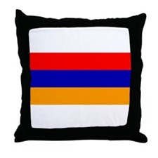 Armenian Flag Throw Pillow