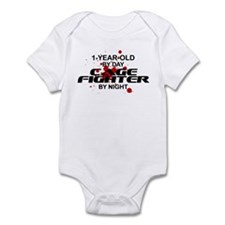 1-Year-Old Cage Fighter by Night Infant Bodysuit